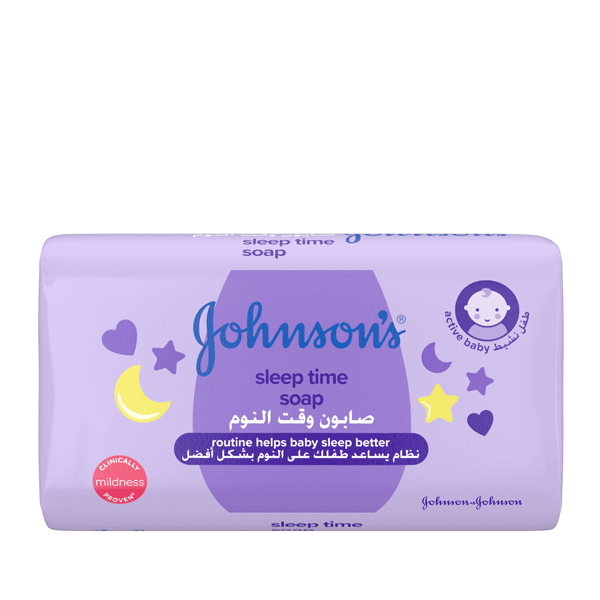 Johnson's® baby bedtime soap the best soap for your baby.