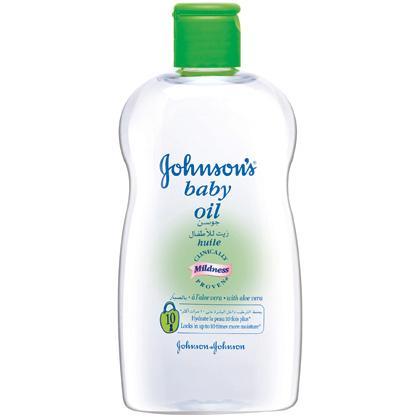 JOHNSON'S®baby oil with aloe vera