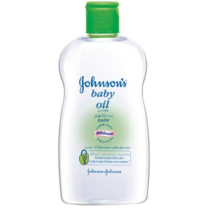 JOHNSON'S® baby oil with aloe vera