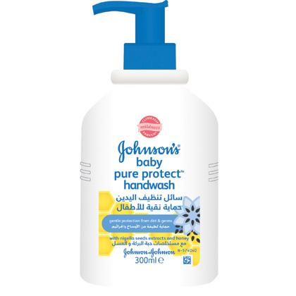 JOHNSON'S® pure protect kids hand wash