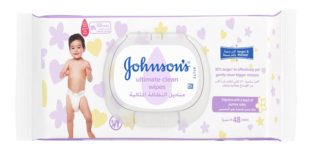 JOHNSON'S® Ultimate Clean Wipes